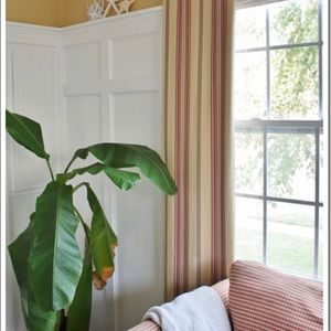 Pottery Barn Stripes Window Curtains
